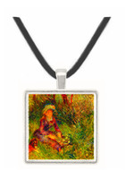 Madame Renoir with dog by Renoir -  Museum Exhibit Pendant - Museum Company Photo