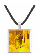 Man and woman on the street by Agrande -  Museum Exhibit Pendant - Museum Company Photo