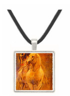 Man on Horseback - Shahnameh of Baysunqur -  Museum Exhibit Pendant - Museum Company Photo