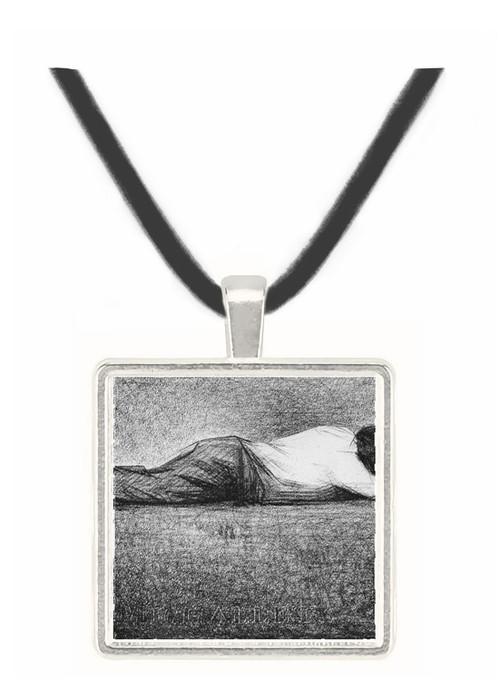 Man sleeping by Seurat -  Museum Exhibit Pendant - Museum Company Photo