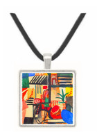 Man with a donkey by Macke -  Museum Exhibit Pendant - Museum Company Photo