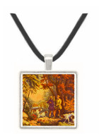 Morning in the Woods - Currier and Ives -  Museum Exhibit Pendant - Museum Company Photo