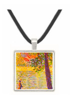 Morning walk (The Seine at Courbevoie) by Seurat -  Museum Exhibit Pendant - Museum Company Photo