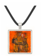 Mother with two children by Schiele -  Museum Exhibit Pendant - Museum Company Photo