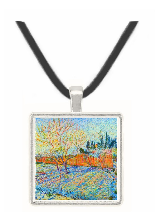 Orchard with cypress by Van Gogh -  Museum Exhibit Pendant - Museum Company Photo