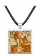 Osiris and Atum Seated with Offerings -  Museum Exhibit Pendant - Museum Company Photo