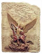 Archangel Michael slaying the Devil - Church of Santa Maria Della Concezione, Rome 1626 A.D. - Photo Museum Store Compan