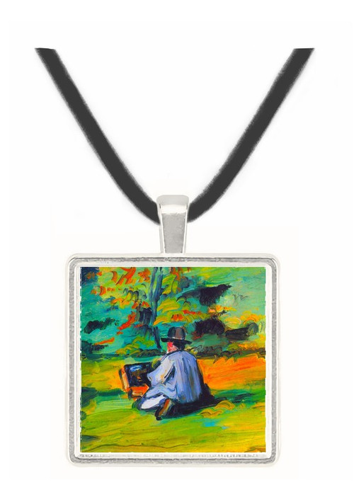 Painter at Work by Cezanne -  Museum Exhibit Pendant - Museum Company Photo