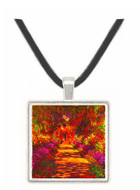 Path in Monets garden in Giverny by Monet -  Museum Exhibit Pendant - Museum Company Photo