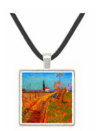 Path Through a Field with Willows -  Museum Exhibit Pendant - Museum Company Photo