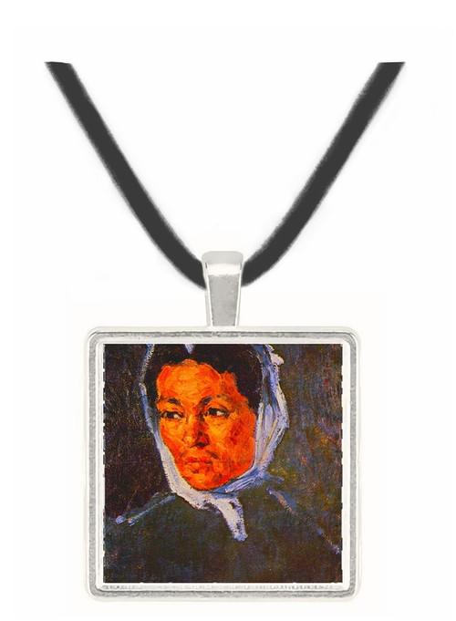 Peasant Woman - Paul Cezanne -  Museum Exhibit Pendant - Museum Company Photo