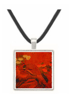 Pheasants and Flowers - unknown artist -  Museum Exhibit Pendant - Museum Company Photo