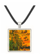 Pine Trees against a Red Sky with Setting Sun -  Museum Exhibit Pendant - Museum Company Photo