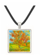 Pink Peach Tree in Blossom Reminiscence of Mauve -  Museum Exhibit Pendant - Museum Company Photo