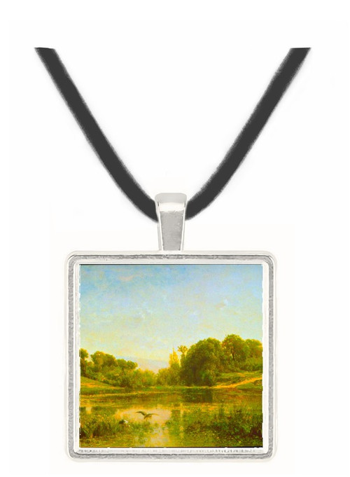 Pool at Gylieu by Daubigny -  Museum Exhibit Pendant - Museum Company Photo