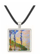 Poplar series, wind by Monet -  Museum Exhibit Pendant - Museum Company Photo