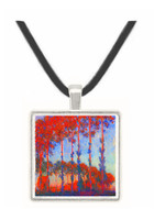Poplars by Monet -  Museum Exhibit Pendant - Museum Company Photo