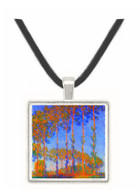 Poplars in the Epte, sunset by Monet -  Museum Exhibit Pendant - Museum Company Photo
