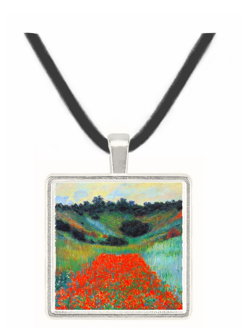Poppy field in Giverny by Monet -  Museum Exhibit Pendant - Museum Company Photo