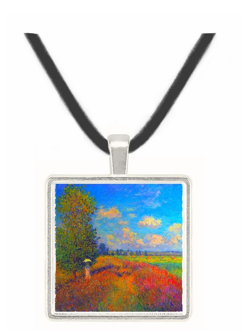 Poppy Field in Summer by Monet -  Museum Exhibit Pendant - Museum Company Photo