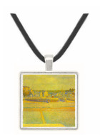 Port-en-Bessin, The terminal at low tide by Seurat -  Museum Exhibit Pendant - Museum Company Photo