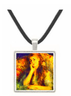 Portrait of a girl in thoughts by Renoir -  Museum Exhibit Pendant - Museum Company Photo