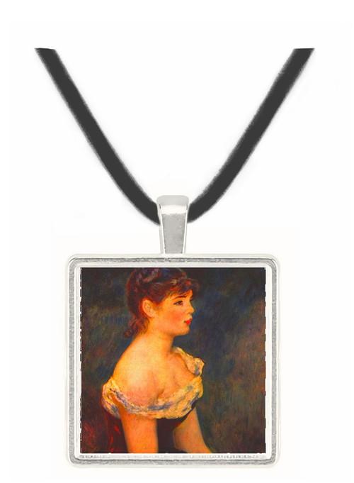 Portrait of a young girl by Renoir -  Museum Exhibit Pendant - Museum Company Photo