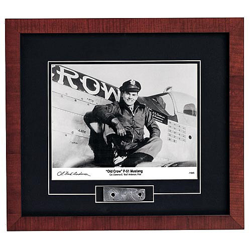 """Old Crow P-51 Mustang Photograph Signed by Colonel Clarence E. """"Bud"""" Anderson - Photo Museum Store Company"""