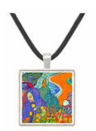 Promenade in Arles by Van Gogh -  Museum Exhibit Pendant - Museum Company Photo