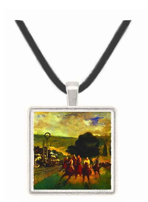 Race at Longchamp by Edouard_Manet -  Museum Exhibit Pendant - Museum Company Photo