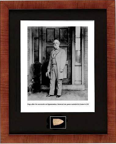 Days after his surrender at Appomattox, Photograph General Lee with Civil war relic bullet - Photo Museum Store Company