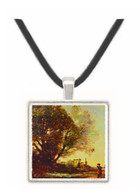 Remembrance to Terracina - Jean Baptiste Camille Corot -  Museum Exhibit Pendant - Museum Company Photo