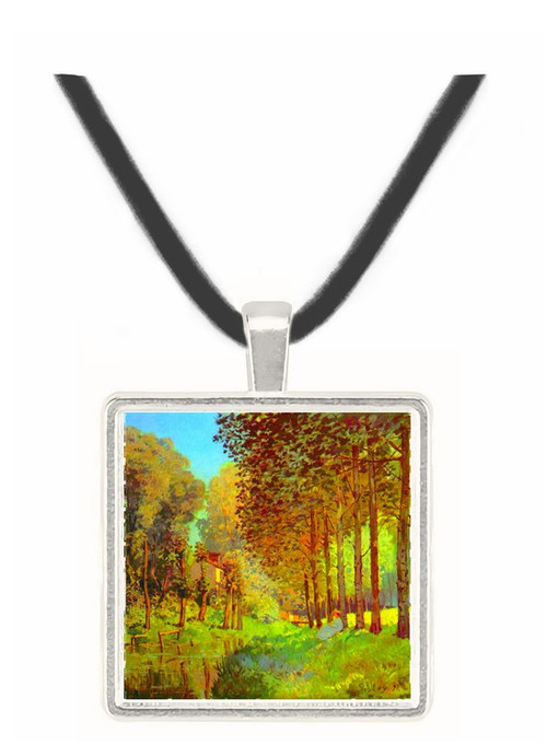 Resting on the river bank by Sisley -  Museum Exhibit Pendant - Museum Company Photo