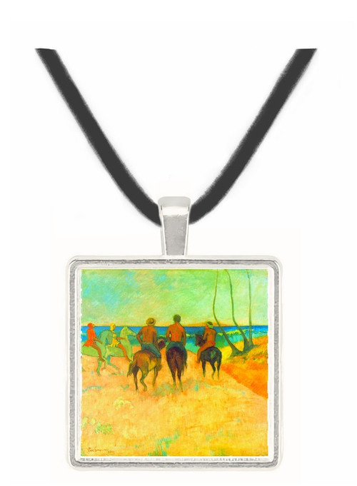 Riding on the Beach #2 by Gauguin -  Museum Exhibit Pendant - Museum Company Photo