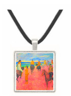 Riding on the beach by Gauguin -  Museum Exhibit Pendant - Museum Company Photo
