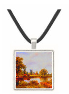 River Scene with Cottage... - Frederick William Watts -  Museum Exhibit Pendant - Museum Company Photo