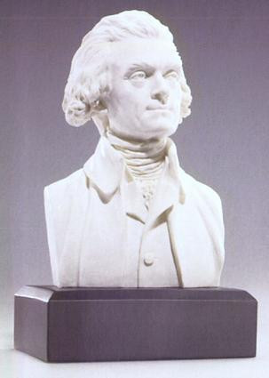 U.S. President Thomas Jefferson Bust - Photo Museum Store Company