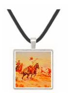 Roping a Maverick - Olaf C. Seltzer -  Museum Exhibit Pendant - Museum Company Photo