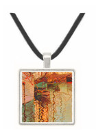 Sailboats in wellenbewegtem water (The port of Trieste) by Egon Schiele -  Museum Exhibit Pendant - Museum Company Photo