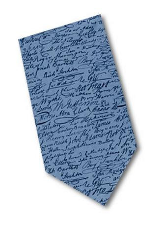 declaration of independence necktie museum store company gifts