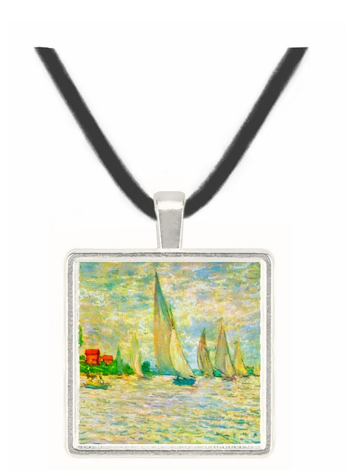 Sailboats, regatta in Argenteuil by Monet -  Museum Exhibit Pendant - Museum Company Photo