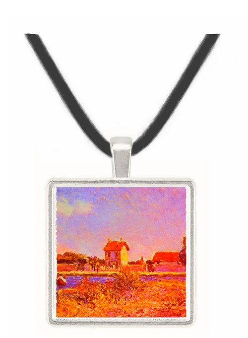 Saint Mammes - Alfred Sisley -  Museum Exhibit Pendant - Museum Company Photo