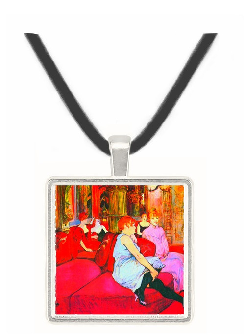 Salon in the Rue de Moulins by Toulouse-Lautrec -  Museum Exhibit Pendant - Museum Company Photo