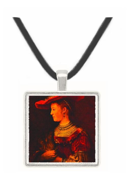 Saskia van Uylenburgk - Rembrandt Harmenszoon van Rijn -  Museum Exhibit Pendant - Museum Company Photo
