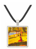 Seated figure by Seurat -  Museum Exhibit Pendant - Museum Company Photo