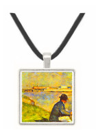 Seated man by Seurat -  Museum Exhibit Pendant - Museum Company Photo