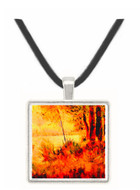 Seated slope by Seurat -  Museum Exhibit Pendant - Museum Company Photo