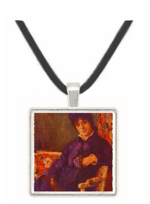 Seated Woman - Mary Stevenson Cassatt -  Museum Exhibit Pendant - Museum Company Photo