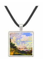 Seine basin near Argenteuil by Monet -  Museum Exhibit Pendant - Museum Company Photo