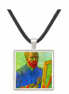 Self-portrait in front easel by Van Gogh -  Museum Exhibit Pendant - Museum Company Photo